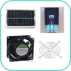 Ventilations kit med solcelle (SOLCELLE og VENTILATOR) KCVM05