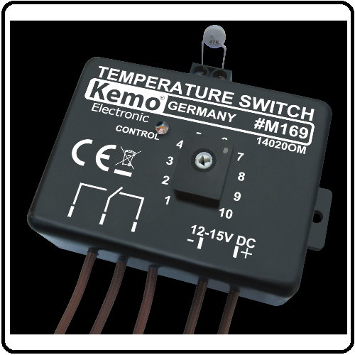 Elektronisk Termostat 12 V/DC