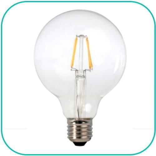 Retro Globepære LED-Pære E27 fatning varm/hvid, 230V/6W
