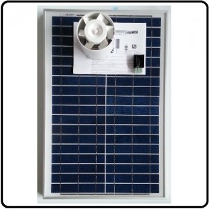 Ventilations kit med solcelle KCVR20